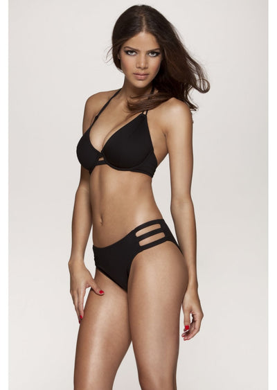 Los Angeles Black Halter Bikini Top