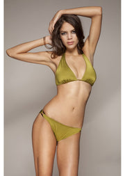 Malibu Moss Green Triangle Bikini Top