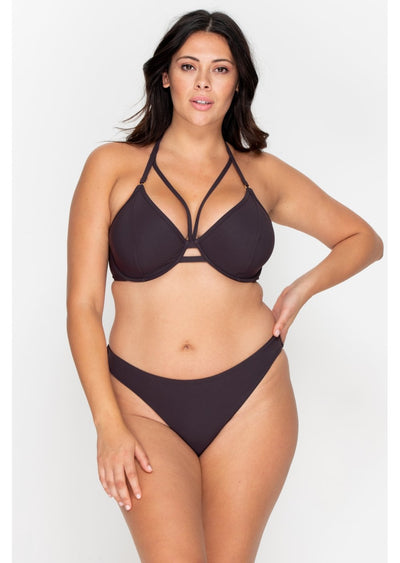 Icon Raisin High Leg Bikini Brief