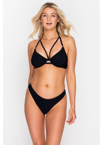 Icon Black High Leg Bikini Brief