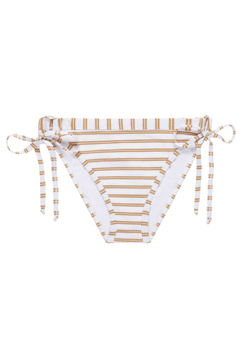 Beachcomber Gold Stripe Tie Side Bikini Brief