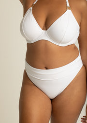 Boudoir Beach White Fold Over Brief