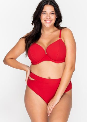 Icon Red Split Side Bikini Brief