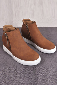 Brown Wedges Platform Vulcanize Shoes