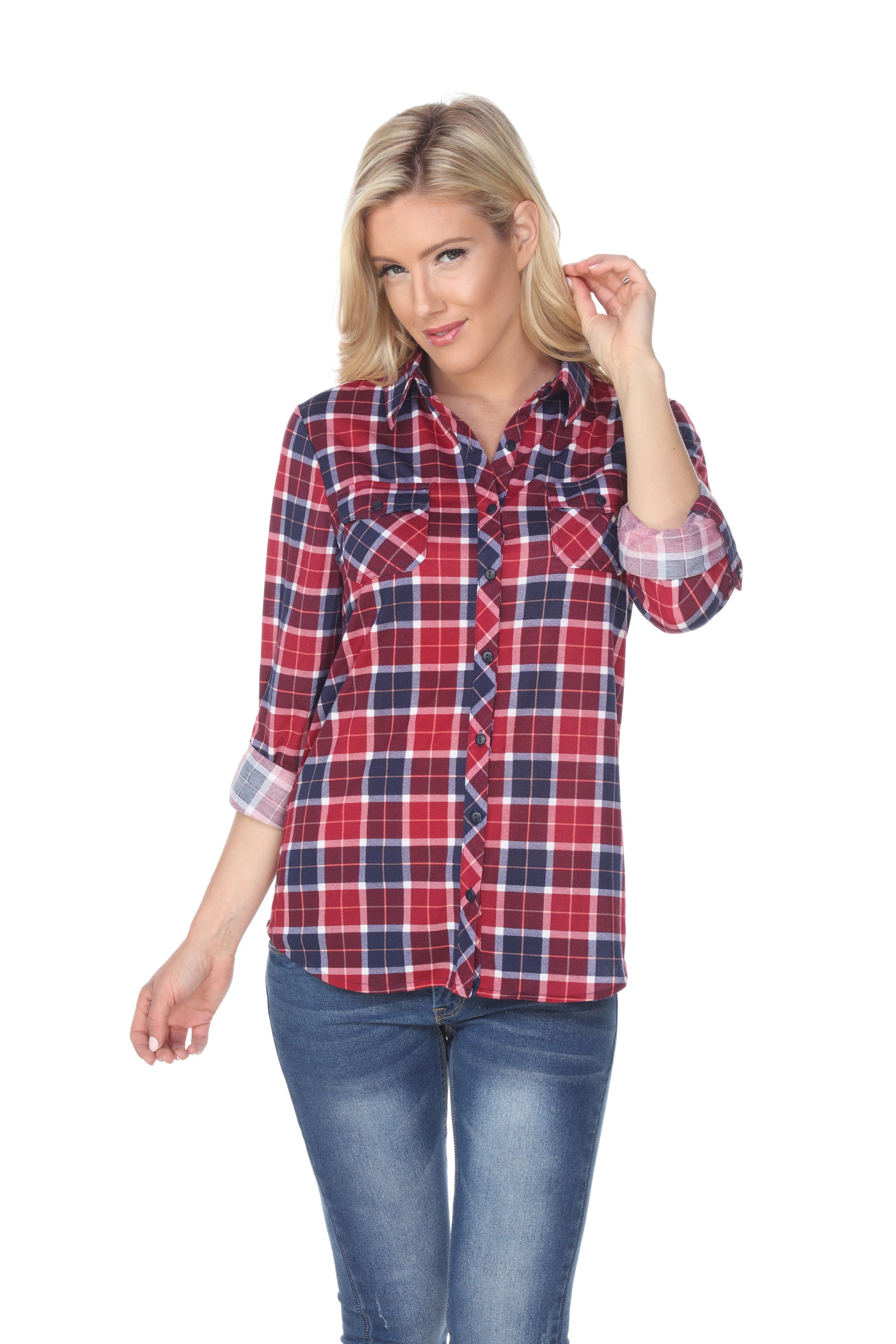 Oakley' Stretchy Plaid Top  Discount Designer Fashion Clothes Shoes Bags Women Men Kids Children Black Owned Business