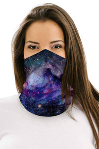 Galaxy Multifunctional Headwear Face Mask Headband Neck Gaiter Neck Gaiter Discount Designer Fashion Clothes Shoes Bags Women Men Kids Children Black Owned Business