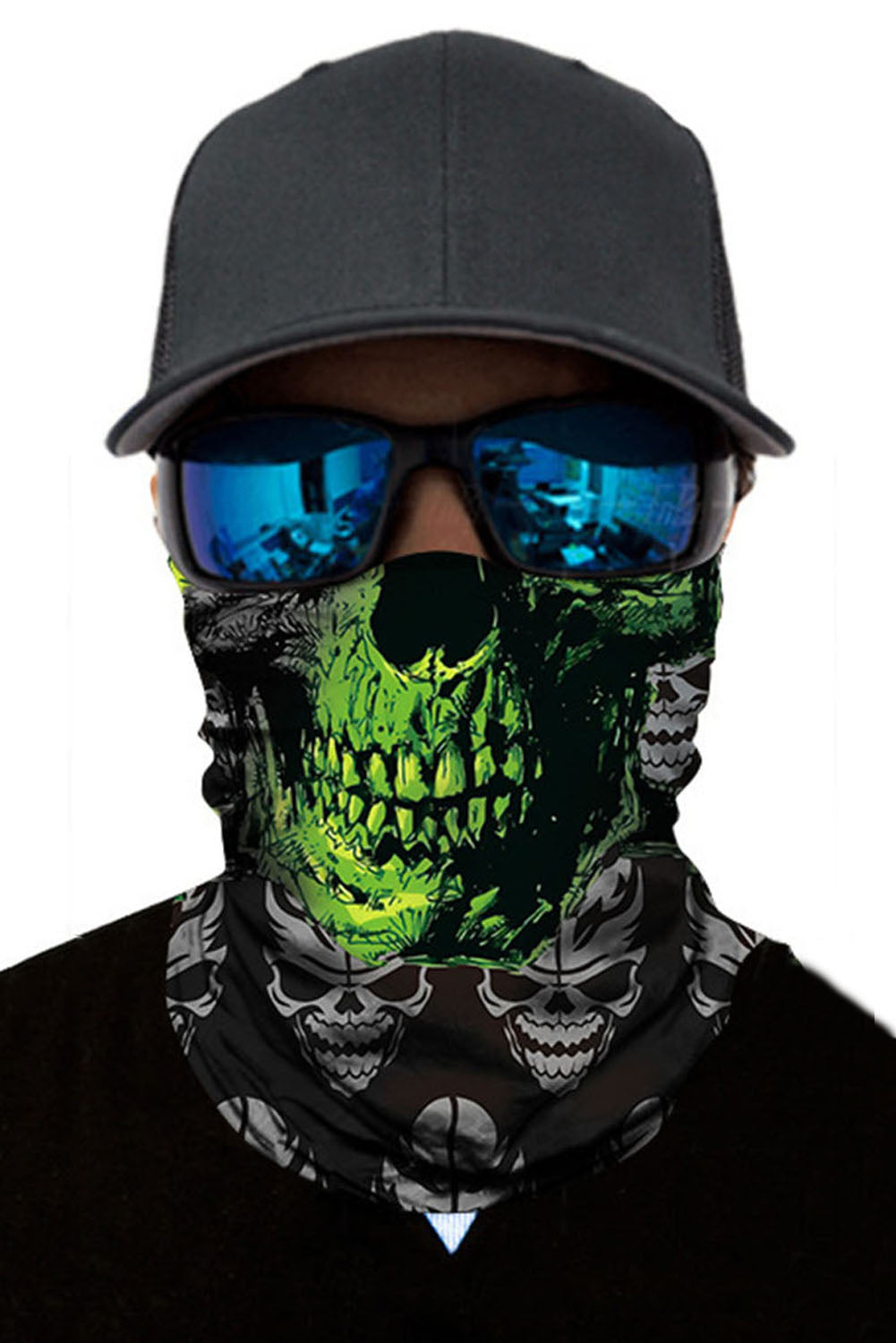 Vendetta Skull Head Scarf Face Mask Neck Gaiter Discount Designer Fashion Clothes Shoes Bags Women Men Kids Children Black Owned Business