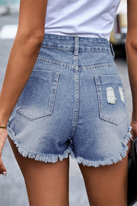 Ember Silver Sequin Pocket Denim Shorts Jeans Discount Designer Fashion Clothes Shoes Bags Women Men Kids Children Black Owned Business