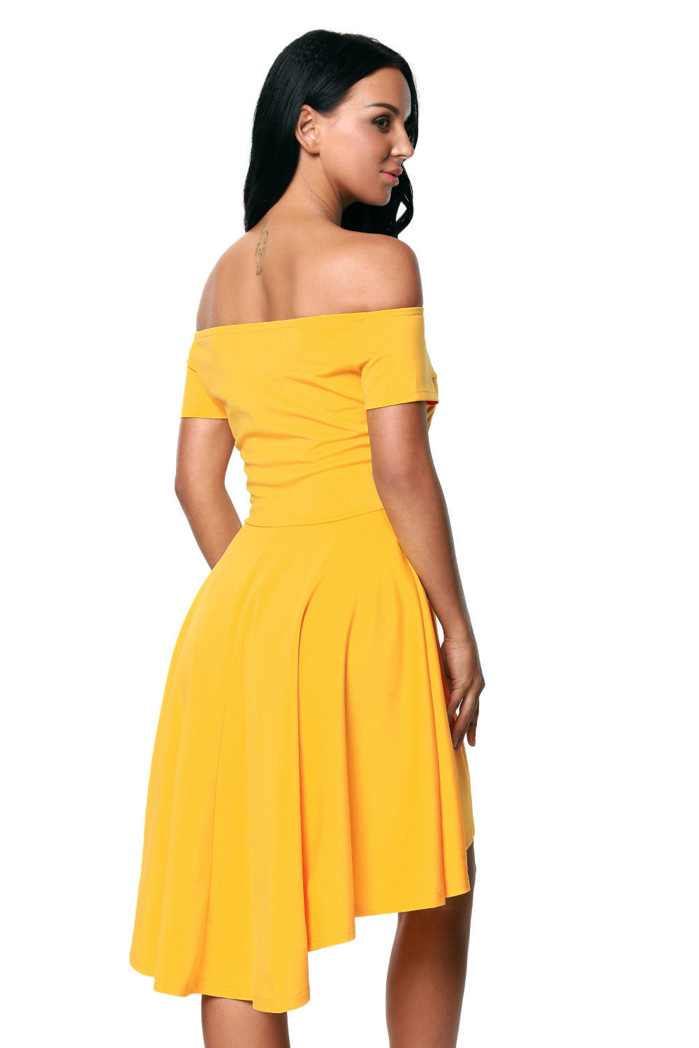 Yellow All The Rage Skater Dress Skater Dresses Discount Designer Fashion Clothes Shoes Bags Women Men Kids Children Black Owned Business