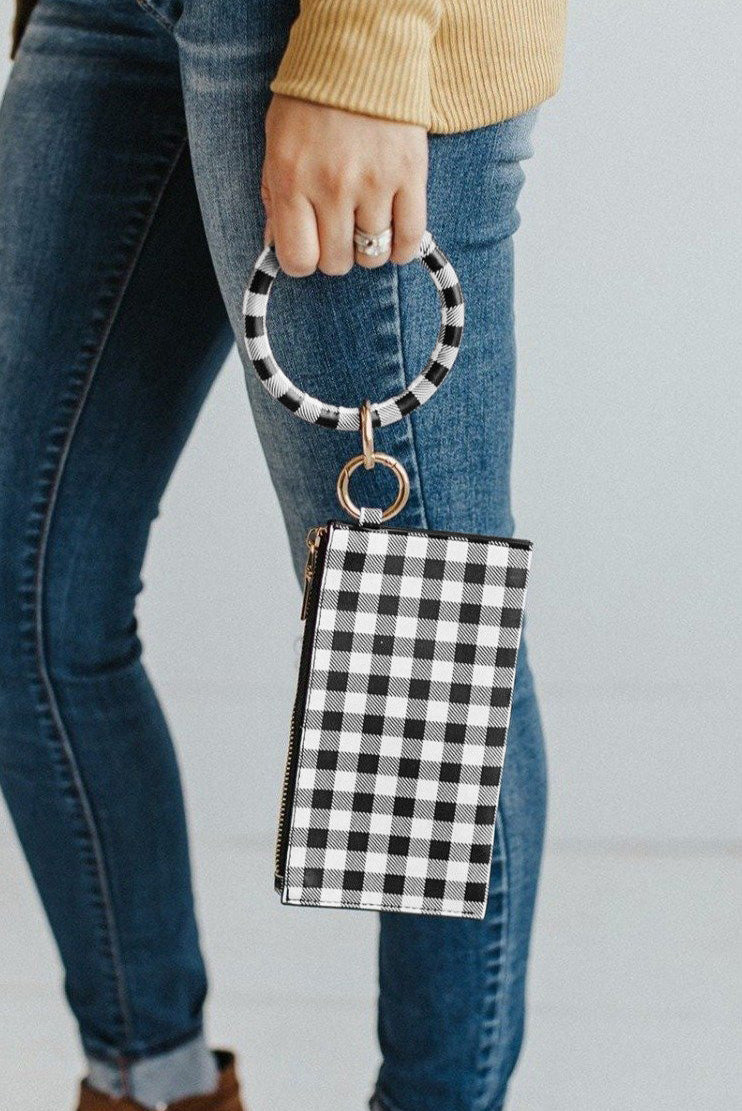 Black Plaid Clutch Bags Discount Designer Fashion Clothes Shoes Bags Women Men Kids Children Black Owned Business