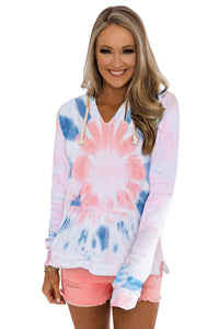 Tie-dye Pattern Drawstring Pullover Hoodie Sweatshirts & Hoodies Discount Designer Fashion Clothes Shoes Bags Women Men Kids Children Black Owned Business