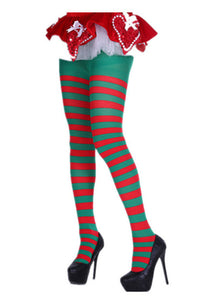 Red Green Striped Over The Knee Pantyhose Others Discount Designer Fashion Clothes Shoes Bags Women Men Kids Children Black Owned Business