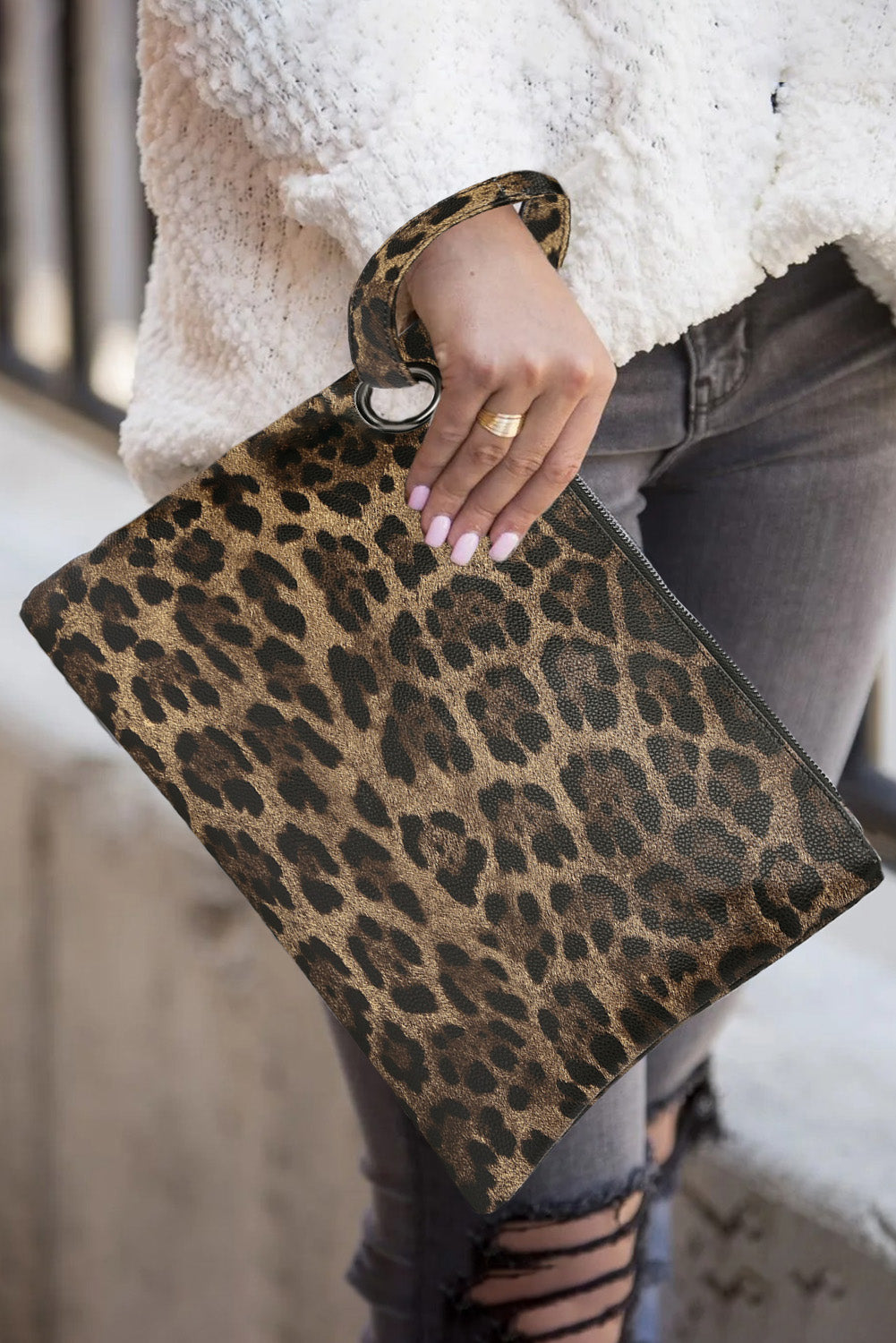 Brown Trendy Leopard Clutch Bags Discount Designer Fashion Clothes Shoes Bags Women Men Kids Children Black Owned Business