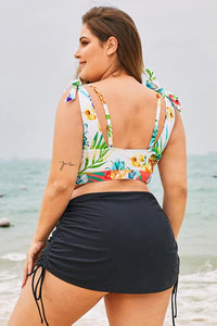 Black Ruched Side Plus Size Beach Swim Bottom Plus Size Swimwear Discount Designer Fashion Clothes Shoes Bags Women Men Kids Children Black Owned Business