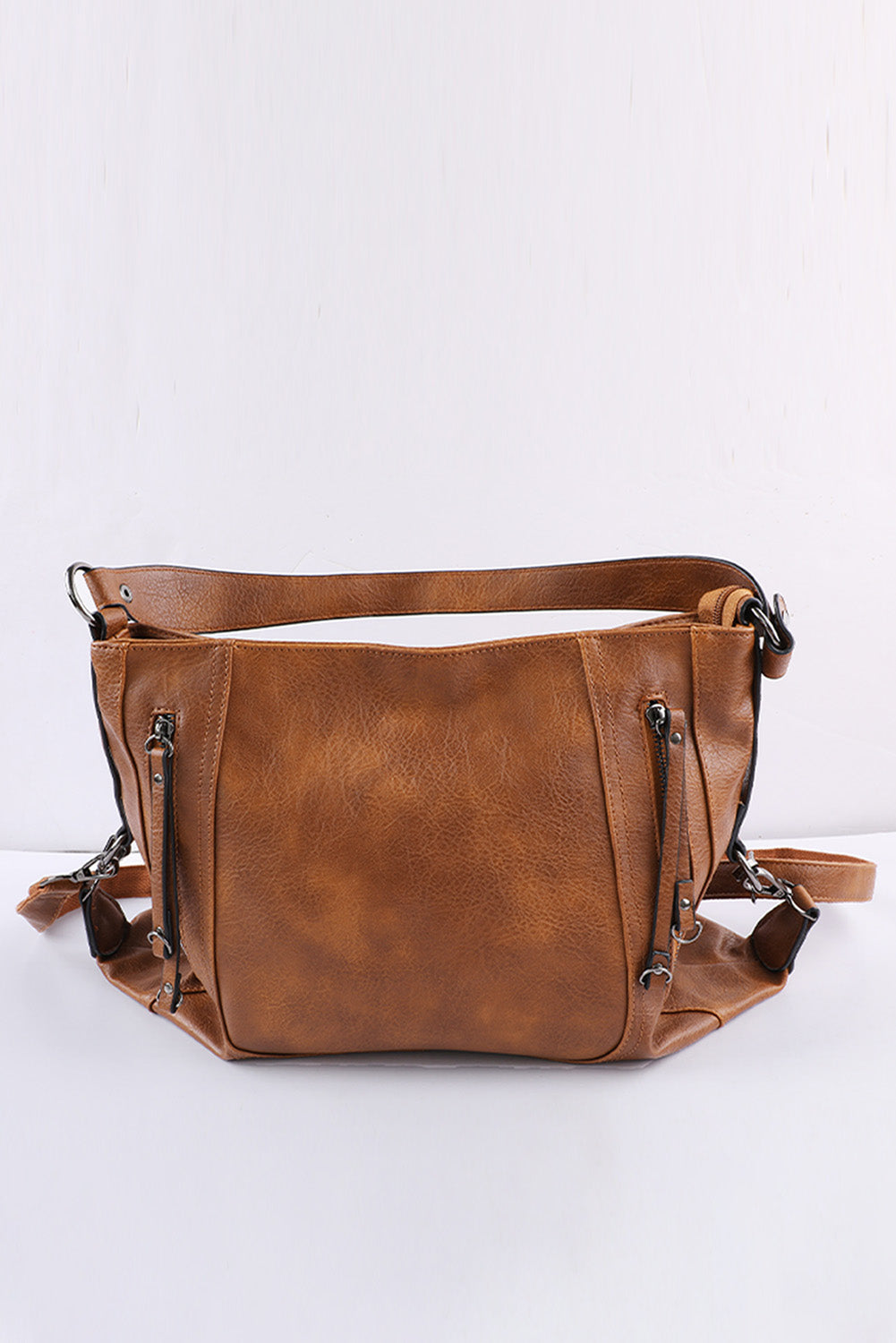 Brown Faux Leather Handbag Bags Discount Designer Fashion Clothes Shoes Bags Women Men Kids Children Black Owned Business