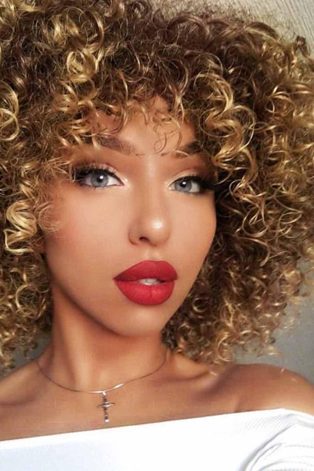 Fashion Small Curly Wig Hair Wigs Discount Designer Fashion Clothes Shoes Bags Women Men Kids Children Black Owned Business