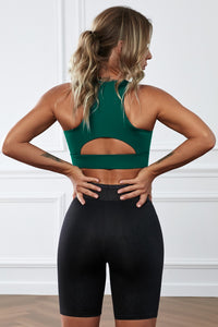 Green Wireless Performance Knitted Sports Bra Crop Tops Discount Designer Fashion Clothes Shoes Bags Women Men Kids Children Black Owned Business