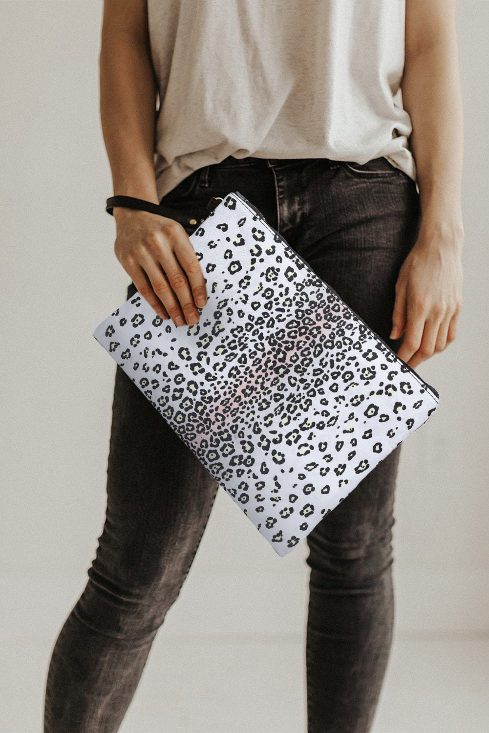 Black Leopard Print Clutch Bags Discount Designer Fashion Clothes Shoes Bags Women Men Kids Children Black Owned Business