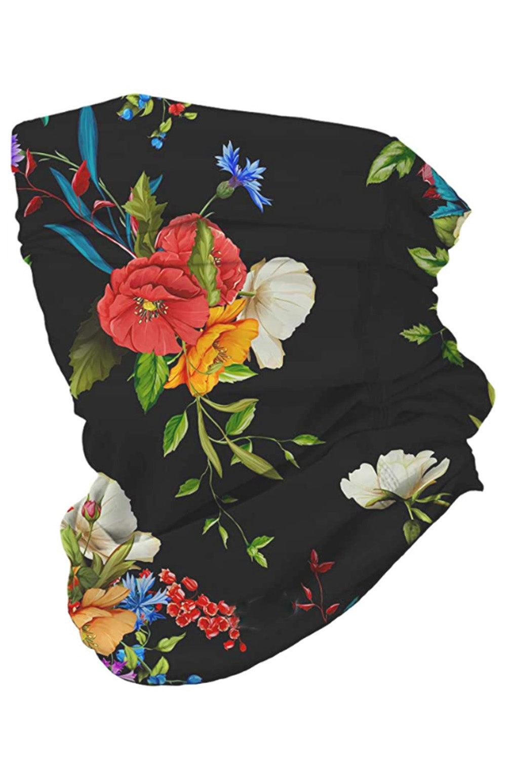 Poppy Floral Multifunctional Headwear Face Mask Headband Neck Gaiter Neck Gaiter Discount Designer Fashion Clothes Shoes Bags Women Men Kids Children Black Owned Business