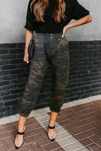 Green Move So Fast Pocketed Camo Pants Pants & Culotte Discount Designer Fashion Clothes Shoes Bags Women Men Kids Children Black Owned Business