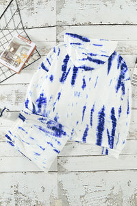 White Tie Dye Crop Knit Set Lounge Sets Discount Designer Fashion Clothes Shoes Bags Women Men Kids Children Black Owned Business