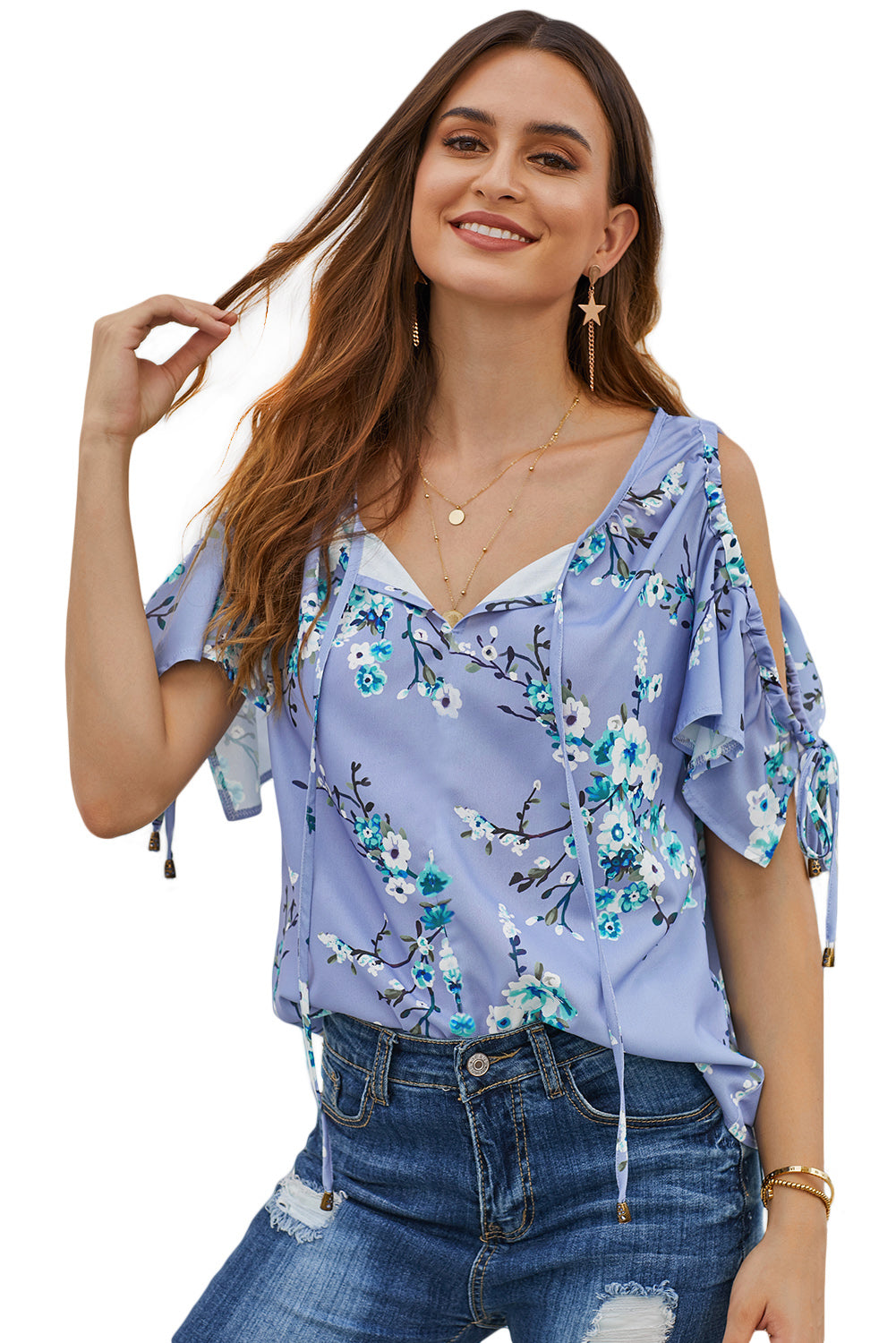 Sky Blue Love Stitch Lifetime of Love Top Blouses & Shirts Discount Designer Fashion Clothes Shoes Bags Women Men Kids Children Black Owned Business