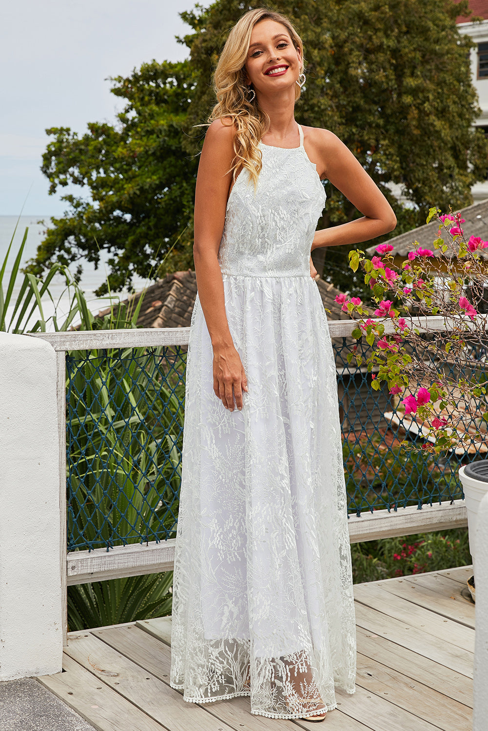 White Wedding Day Ball Party Lace Maxi Dress Evening Dresses Discount Designer Fashion Clothes Shoes Bags Women Men Kids Children Black Owned Business