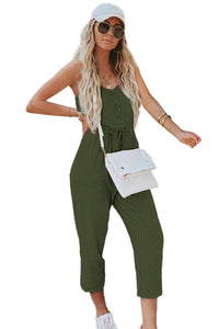 Green Pocketed Knit Jumpsuit Jumpsuits & Rompers Discount Designer Fashion Clothes Shoes Bags Women Men Kids Children Black Owned Business