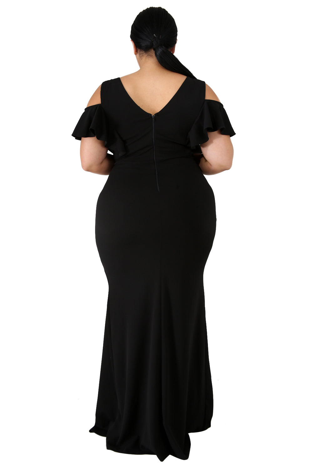 Black Plus Size Flamous Mermaid Dress Plus Size Dresses Discount Designer Fashion Clothes Shoes Bags Women Men Kids Children Black Owned Business