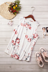 Floral Print White Tank Top Tank Tops Discount Designer Fashion Clothes Shoes Bags Women Men Kids Children Black Owned Business