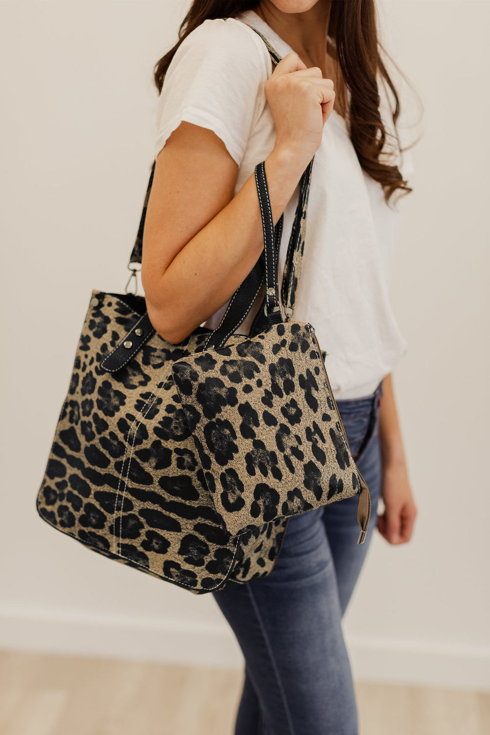 Brown Leopard Shoulder Bag and Clutch Bags Discount Designer Fashion Clothes Shoes Bags Women Men Kids Children Black Owned Business