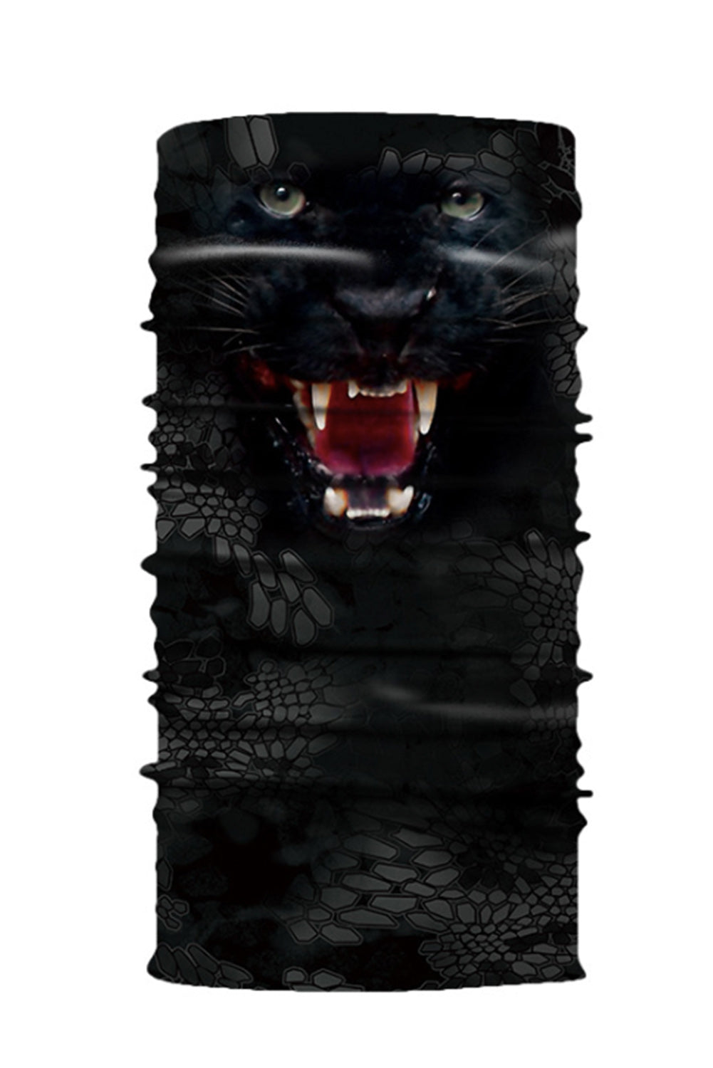 Black Animal Print Cycling Motorcycle Head Scarf Neck Warmer Face Mask Neck Gaiter Discount Designer Fashion Clothes Shoes Bags Women Men Kids Children Black Owned Business