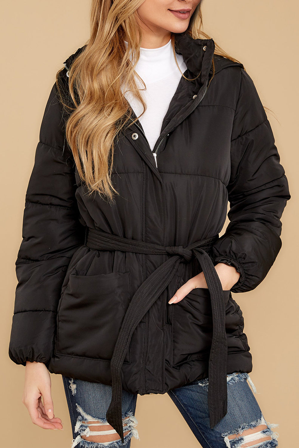 Black Puffer Jacket Suits & Coats Discount Designer Fashion Clothes Shoes Bags Women Men Kids Children Black Owned Business