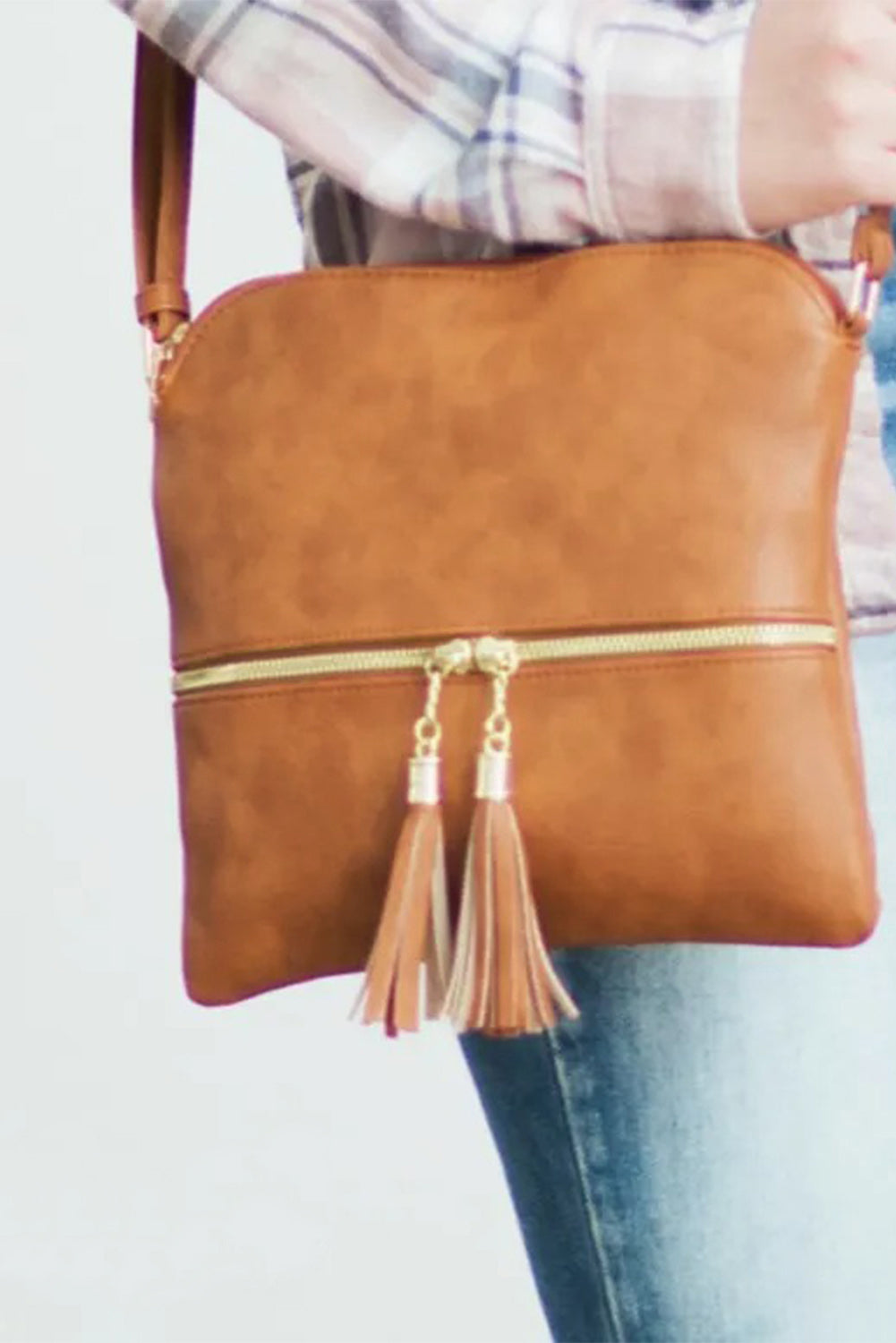 Brown Crossbody Bag with Tassel Bags Discount Designer Fashion Clothes Shoes Bags Women Men Kids Children Black Owned Business