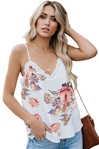 White Young Love Ruffle Cami Tank