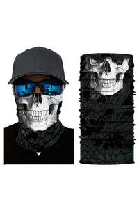 White Skull Head Scarf Face Mask Neck Gaiter Discount Designer Fashion Clothes Shoes Bags Women Men Kids Children Black Owned Business
