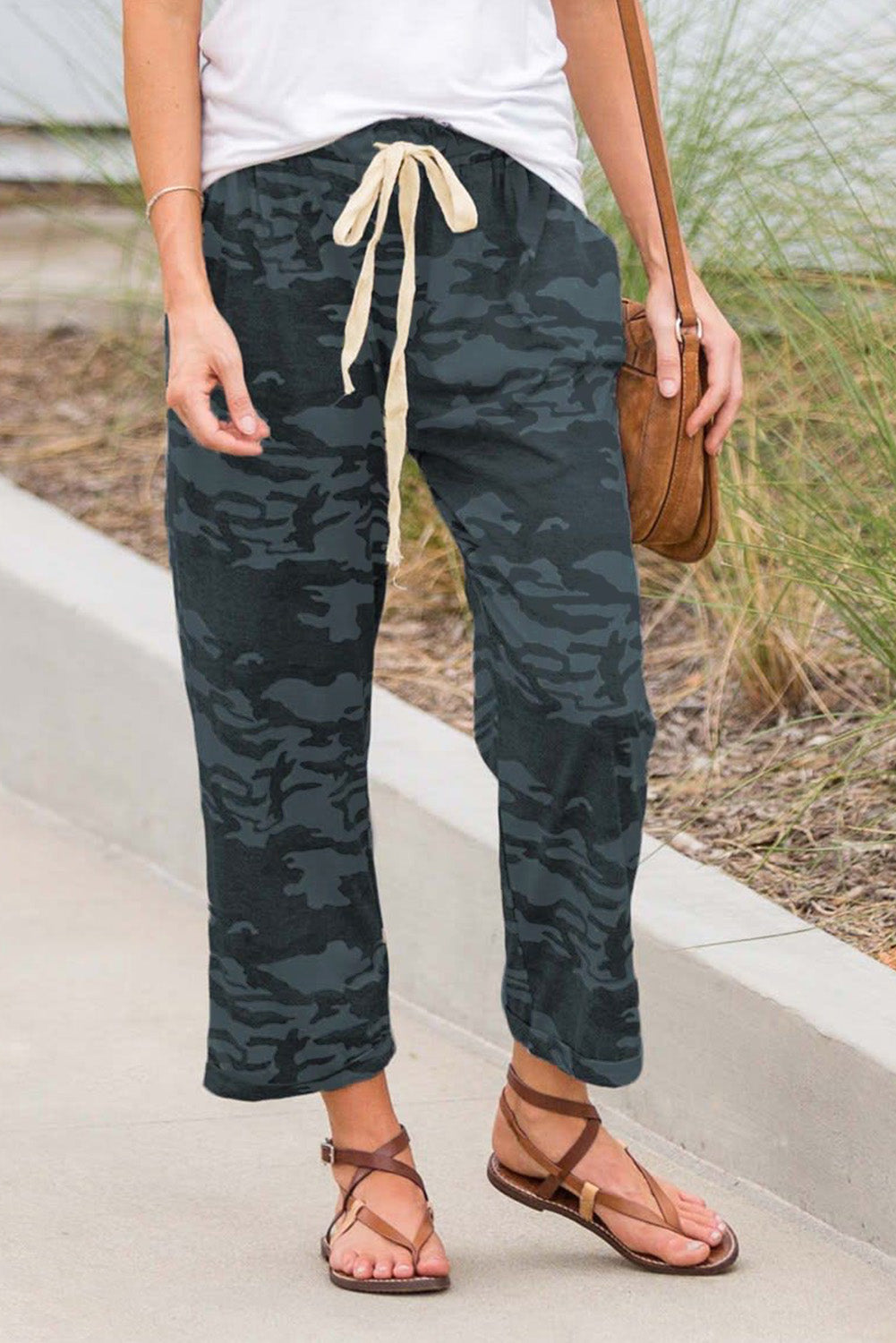 Dark Green Camouflage Lounge Pants Pants & Culotte Discount Designer Fashion Clothes Shoes Bags Women Men Kids Children Black Owned Business