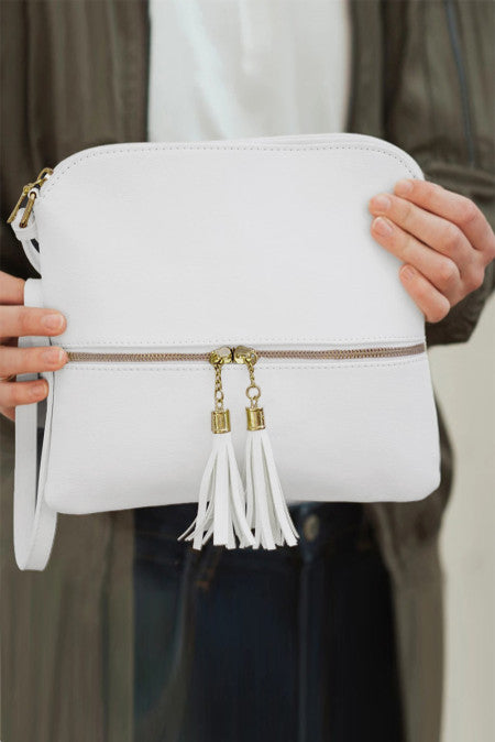 White Crossbody Bag with Tassel Bags Discount Designer Fashion Clothes Shoes Bags Women Men Kids Children Black Owned Business