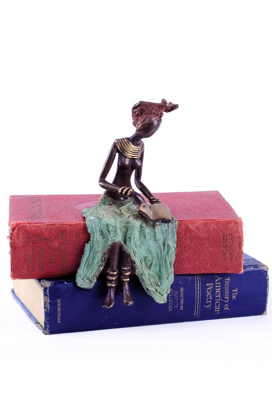 "Fascinating ""Reading is Fundamental"" Sculpture Statutes Discount Designer Fashion Clothes Shoes Bags Women Men Kids Children Black Owned Business"