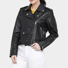 Load image into Gallery viewer, Nitz Womens Zip Detailed Black Jacket