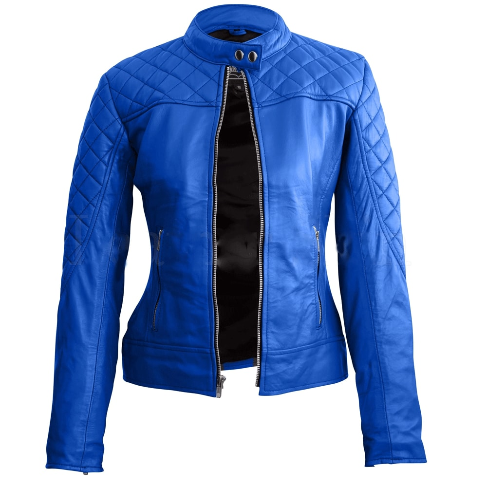Nitz Blue Sexy Stylish Premium Leather Jacket