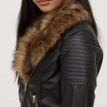 Load image into Gallery viewer, Nitz Biker leather jacket with fur