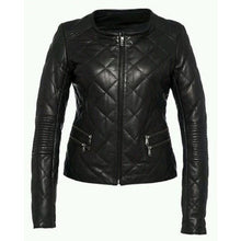 Load image into Gallery viewer, Nitz Women Black Handmade Premium Leather Jacket