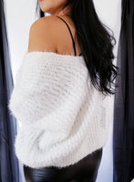 Snowed Inn Open V Neck Sweater