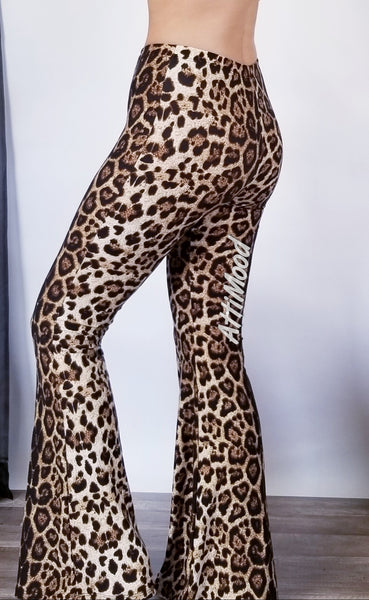Wild Side Leopard Bell Bottoms