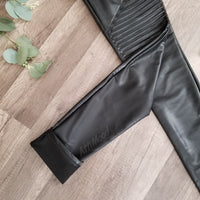 No Life Til Leather Moto Leggings