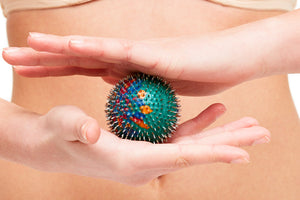 Acupressure Rubber Ball with Metal Needles for Pain Relief