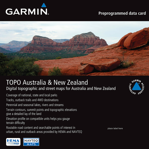 Garmin TOPO Australia & New Zealand microSD/SD Card