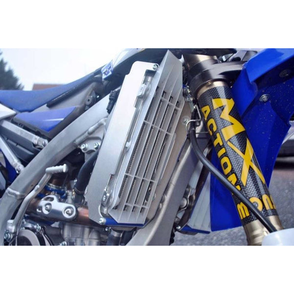 AXP Yamaha WR250F - YZ250FX Radiator Braces (Blue Spacers) 2015 - 2019