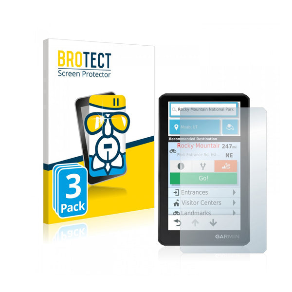 BROTECT AirGlass Screen Protector 3 Pack (Garmin Zumo XT)